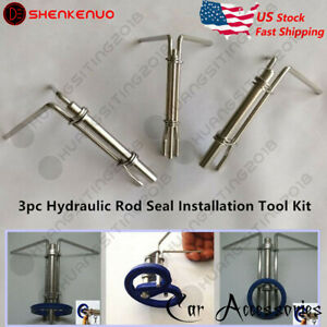 3pc Hydraulic Cylinder Piston Rod Seal U Cup Installation Tool Kit Set Universal