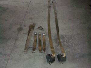 1976 1977 1978 1979 Ford Truck 3 Point Seat Belts Seatbelts Tan