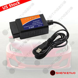 Elm327 Usb Interface Obd2 Car Diagnostic Scanner Cable For Windows Pc Computer X