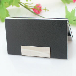 Pu Business Card Case Driver Id Credit Card Holder Protector Cover Purse Case