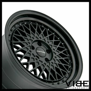 18 Avant Garde M220 Black Mesh Wheels Rims Fits Honda Civic Si Sedan Coupe