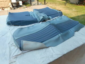 1966 Ford Mustang Fastback Rear Seat Upholstery Blue