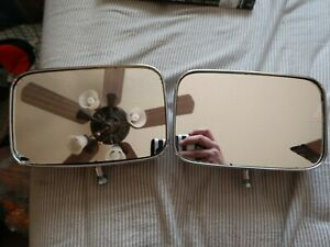 Vintage Chrome Main Side Mirrors Fit Truck Bus Camper Tractor 8 1 2 X 5 1 2