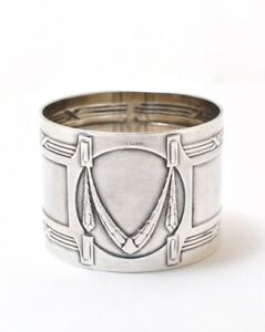 Vintage Art Deco Silver Plated Napkin Ring