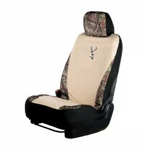 2 Mossy Oak Khaki Universal Camo Lowback Seat Cover Hunting Breakup Country