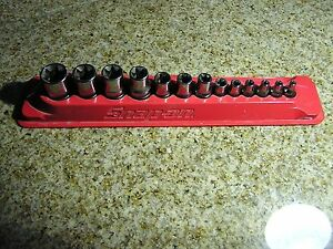 Snap On 13pc Shallow Combination Drive Torx Socket Set Pakty242 W Magnet Tray