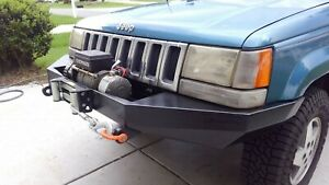 Jeep Grand Cherokee Zj Front Winch Custom Steel Bumper