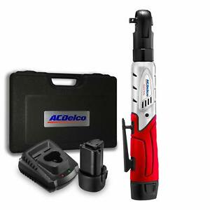 Acdelco Cordless 3 8 Ratchet Wrench 57 Ft Lb Of Max Torque Tool Set With 2 Batt