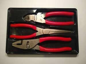 Snap On Set Of 3 Pliers 47acf 97acf 87acf Like New