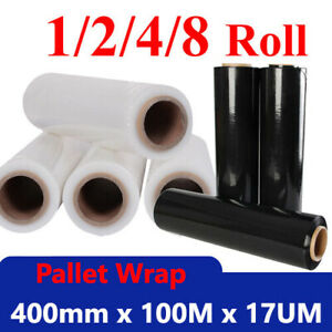 Black clear Pallet Shrink Wrap Rolls Strong Stretch Poly Plastic Film