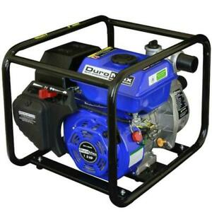 Utility Gas Powered Water Pump 7 Hp 2 Portable Drain Pool Empty Flooded Area Us
