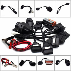 Full Set 8 Car For Cdp Tcs Pro Diagnostic Connector Cable For Cdp Tool New