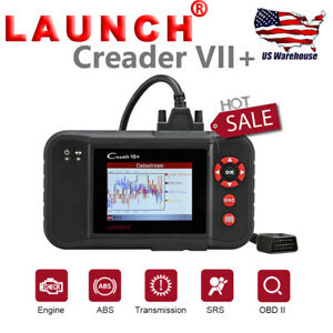 Launch X431 Creader Vii Diagnostic Obd2 Scanner Code Reader Tool Airbag Abs Srs