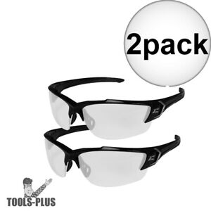 Edge Eyewear Sdk111vs g2 2x Khor Black Clear Shield Lens Safety Glasses New