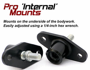 Auto Racing Mirrors Pro Internal Mount 6061 Aluminum Cnc Milled