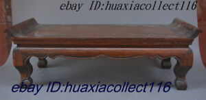 Ancient China Huang Huali Wood Classical Pattern Furniture Table Desk Secretaire