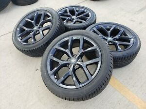 20 Dodge Charger Challenger Scat Pack Oem Black Wheels Rims Tires 2526 2017