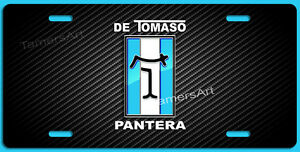 De Tomaso Pantera License Plate Black Carbon Fiber Illusion Made In Usa