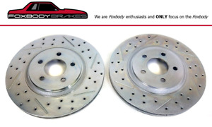 Brand New Pair 1979 2004 Mustang Front Cobra 13 Rotors Drill Slot And Plated