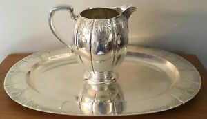 Hardy Hayes Windsor Castle 925 Sterling Silver Pitcher 20 Serving Tray 2576g