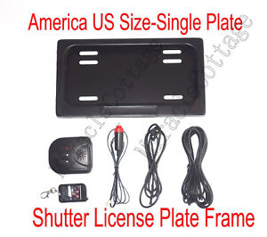 Usa Remote Control Hide Away License Plate Frame stealth Hidden License Plate