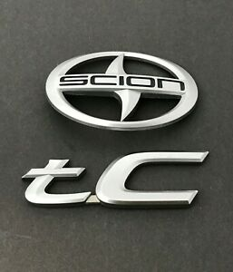 05 06 07 08 09 10 Scion Tc Rear Silver Trunk Lid Emblem Badge Set Oem