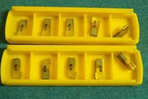 10 New Kennametal Carbide Partoff grooving Inserts Gs125n Kc720 Grade