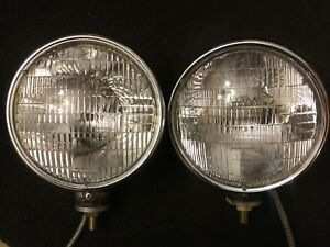 Chrome Westinghouse Sealed Beam Headlamps