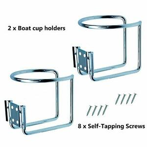 Drink Cup Holder 2pcs Stainless Steel Ring For Boat Marine Yacht Truck Rv Camper