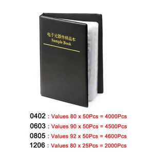 Smd smt 0402 0603 0805 1206 Capacitor Sample Book Component Book Assortment Kit