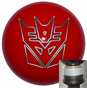 Transformers Decepticon Red Shift Knob W Silver Adapter Kit Fits New Dodge Dart