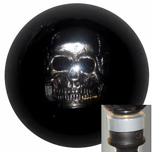 Chrome Skull Black Shift Knob With Silver Adapter Kit Fits New Dodge Dart