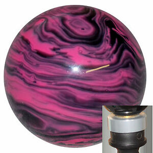 Marbled Black Pink Shift Knob With Silver Adapter Kit Fits New Dodge Dart
