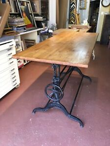 Early 20th Century Drafting Table Vintage Works Dietzgen