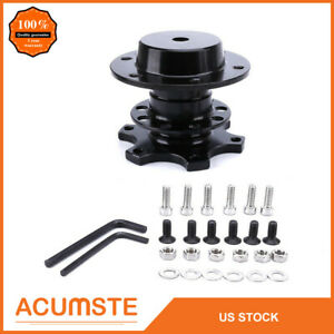 Universal Steering Wheel Quick Release Kit Hub Racing Adapter Snap Off Boss Usa