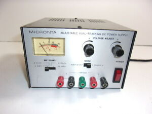 Micronta Adjustable Dual tracking Power Supply 0 15vdc 0 1 Amp Cat 22 121