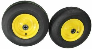 2 New 13x5 00 6 R m Smooth Tires On John Deere Zero Turn Front Caster Wheel J 10