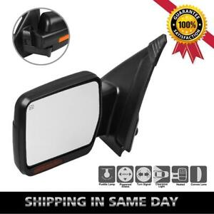 For 07 14 Ford F150 Power Heat Signal Puddle Light Towing Left Drive Side Mirror