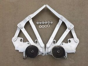 1994 2001 Dodge Ram 1500 2500 3500 Hood Hinges Left right With Bolts White Oem