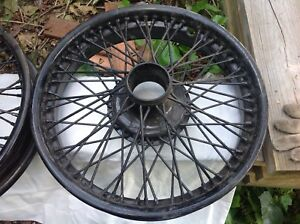 Rudge Whitworth Two Of18 Inch Wire Wheel Suit Jaguar Bentley And Similar