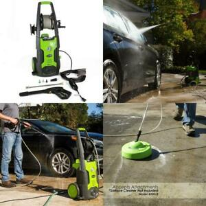 Greenworks 1950 Psi 13 Amp 1 2 Gpm Pressure Washer With Hose Reel Gpw1951