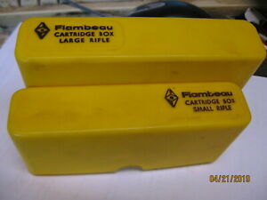 Excellent Large or Small Rifle Yellow Kasnar  Flambeau Ammo Boxes storage tray