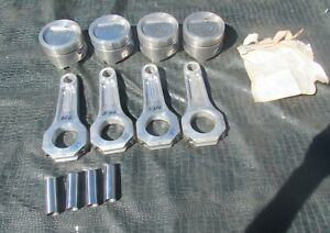 4 Nos Bbc Je Inv Dome Pistons 3902 4 375 3 766 Aluminum Rods Supercharge