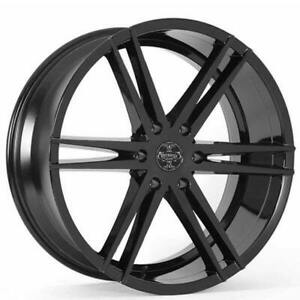 Qty4 24 Versante Wheels Ve238 Black Rims Fs