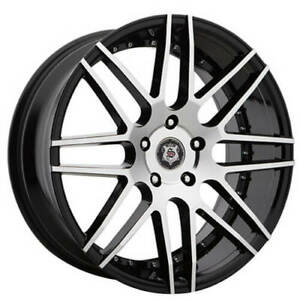 Qty4 24 Versante Sevizia Wheels Se430 Black Machined Fs