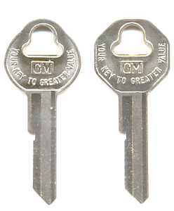 2 Gm Key Blanks 1952 1953 1954 1955 1956 1957 1958 1959 Chevy Bel Air