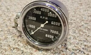 8k Stewart Warner Cable Drive Tach Beautiful Restored Condition