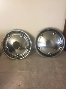 A Pair Of Rare 1967 1968 Oem Chevy C10 Truck Four Wheel 15 Hubcaps