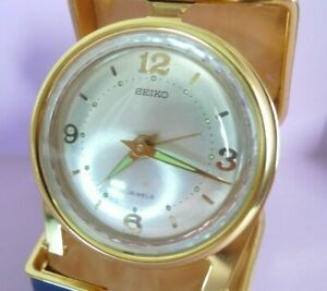 New Old Stock 1970s Seiko Travel Alarm Clock Mechanical Hand Winding