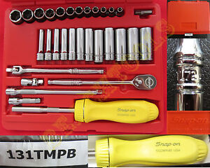 New Snap On 6 Pts Metric General Set Yellow Ratchet Screwdriver Tl72 131tmpb